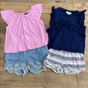 Lot of 4 toddler girl items